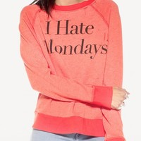 Wildfox Couture -  I HATE MONDAYS DESTROYED SWEATER
