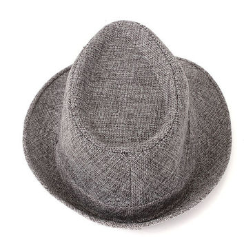 Men Women Casual Fedora Trilby Straw Panama Beach Sun Cap Wide Brim Bowler Hat