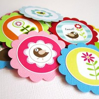 Bird Flower Tags for Party Favors and Decorations | Adore By Nat