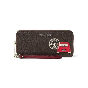 LMFON MICHAEL Michael Kors Drive Away Travel Continental Wallet