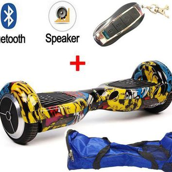 CREYONV new color samsung 2 wheels smart self balancing electric scooter hoverboard unicycle bluetooth remote bag 6 5 inch