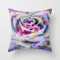 The Rose Throw Pillow by Macsnapshot