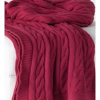 Favorite Sweater Cranberry Red Throw Blanket