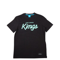King Apparel - ELK Script TShirt - Black