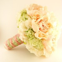 HandTied Silk Bridal Bouquet Real Touch by SongsFromTheGarden