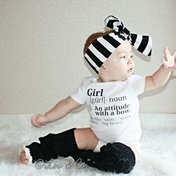 Baby Girl Clothes, Toddler Girl Outfit, Girl Clothing, Newborn Clothes, Newborn Gift, Funny Baby Clothes, Girl Definition™, Liv & Co.™