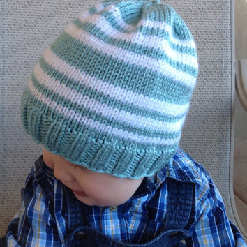 Hand Knitted, Crochet,Colorful  Baby Girl or Boy Hat,  Baby Shower, Gift, 6-12 months olds ready to ship