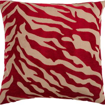 Surya Velvet Zebra Throw Pillows