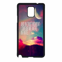Perks Of A Wall Flower Quote Design Vintage Retro Samsung Galaxy Note 4 Case