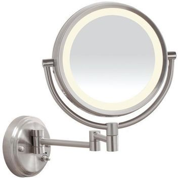Conair Reflections Led Brushed-nickel Wall-mount Mirror (pack of 1 Ea)