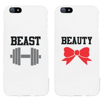 Beauty & Beast Matching Couple White Phonecases (Set)