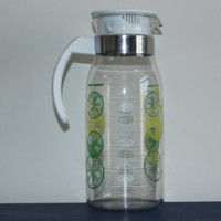 Retro lemon lime 1 liter glass pitcher, carafe, decanter - Edit Listing - Etsy