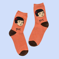 Asian Girl Socks