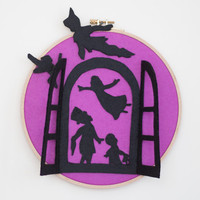 Peter Pan Nursery Decor- Peter Pan Wall Decor- Peter Pan Nursery Art- Peter Pan Wall Art- Peter Pan Wall Hanging- Peter Pan 3D Wall Art
