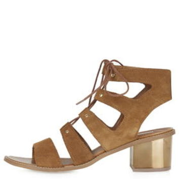 NUGGET Ghillie Bronze Heel Sandals - Tan