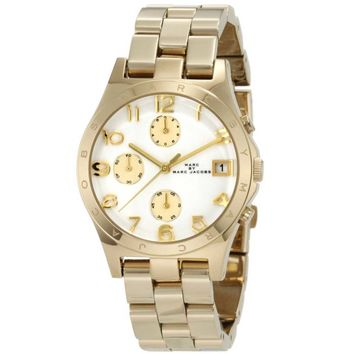 Marc by Marc Jacobs MBM3039 Women's Henry Gold Tone White Dial Chronograph Watch
