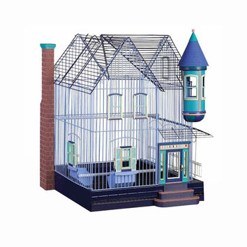 Prevue Hendryx Featherstone Heights Victorian Large Entry Door, Plastic Base Construction Bird Cage Kit