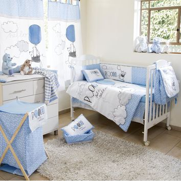 Disney Blue Winnie The Pooh Play Crib Bedding Collection Crib Bedding Set