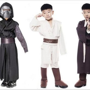 Hot Sale Boys Star Wars Deluxe Jedi Warrior Movie Character Cosplay Party Clothing Kids Fancy Halloween Purim Carnival Costumes
