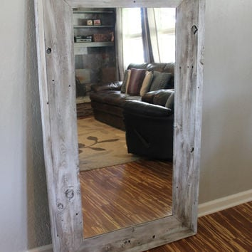 Reclaimed Wood Mirror, Rustic Mirror, Reclaimed Wood, Floor Mirror, Full Length Mirror, Reclaimed Wood Mirror, Wood Mirror, Rustic Decor