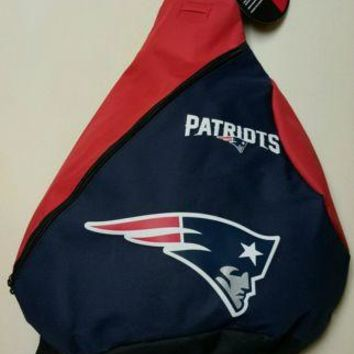 NEW ENGLAND PATRIOTS NFL TEAM LOGOS NAVY / RED 18'' SLING BACKPACK/BAG