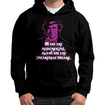 WE ARE THE MUSIC MAKERS Gildan Hoodie (on man)