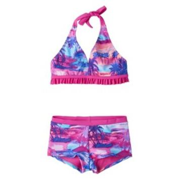 Girls' 2-Piece Halter Tie Dye Bikini Swimsuit Set