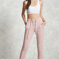 Lace-Up French Terry Joggers