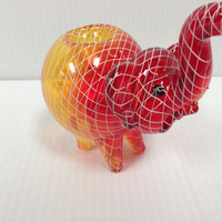 Glass Pipe - Red and Yellow Elephant - RKP Glass