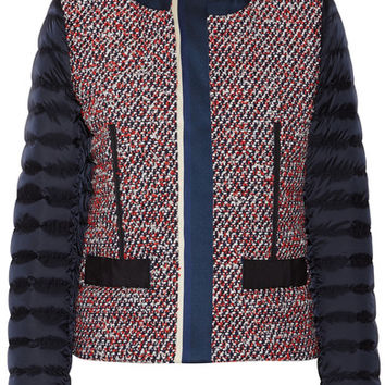Moncler - Ossau tweed and quilted shell down jacket