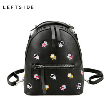 Embroidered Flowers Backpack