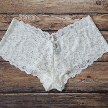 Ivory Lace Bridal Panties, Ivory Lace Panties, Ivory Bridal Panties - Ready to Ship