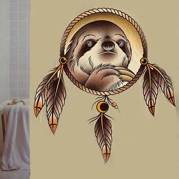 "slothzilla dream catcher Custom Shower Curtain available size 66"" x 72"", 60"" x 72"",48"" x 72"""