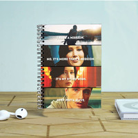 Mockingjay Hunger Game Quotes Photo Notebook Auroid