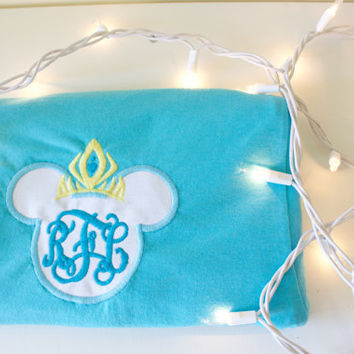 Queen Elsa Monogram Mickey Tee