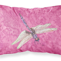 Dragonfly on Pink Moisture wicking Fabric standard pillowcase