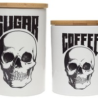 SOURPUSS SKULL CANISTER SET - Sourpuss Clothing