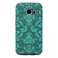 Green damask and Vines Samsung Galaxy S6 Cases