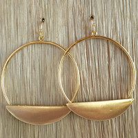 Play Hard To Get Hoop Earrings - Gold