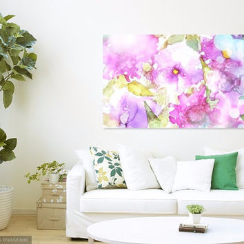 Summer Trend Print, Alcohol Ink Painting, Spring Gift Idea, Unique Wall Decor, Giclee Print, Pink Art Trend, Anniversary Gift, Nature Art