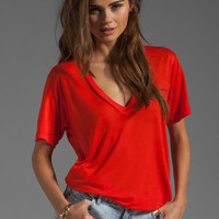 A Fine Line Levi V Neck Tee in Poppy from REVOLVEclothing.com