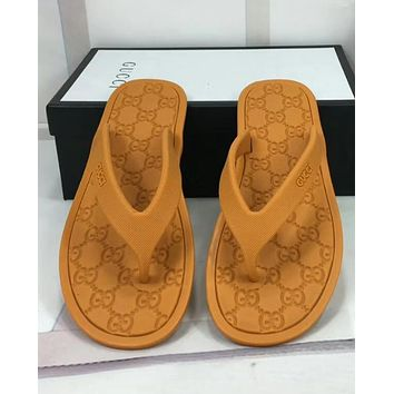 GUCCI Herringbone slippers