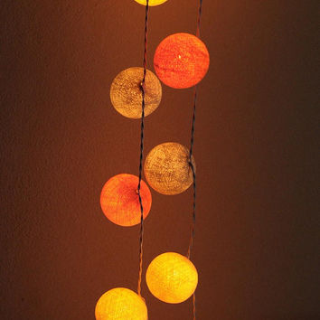Classic warm sunset beach california string light cotton ball party home decor display