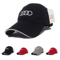 Audi baseball cap men women hip hop embroidery cap cotton adjustable snapback golf cap sun hat