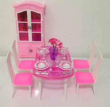 Barbie Size Dollhouse Furniture Dinning from Amazon