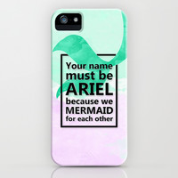Mermaid For Each Other -Pick Up Lines Collection -Black iPhone & iPod Case by ByBreDesigns