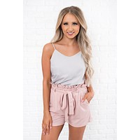 Midnight Dreamin' High Rise Shorts (Pink)