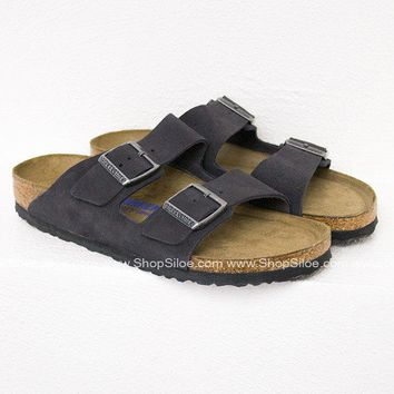 Arizona Velvet Grey Birkenstocks