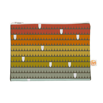 "Pellerina Design ""Rainbow Scallops"" Red Orange Everything Bag"
