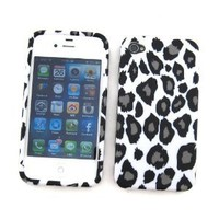 Amazon.com: Apple iPhone 4 & 4S Crystal Silicone Skin Case Snow Leopard Design: Cell Phones & Accessories